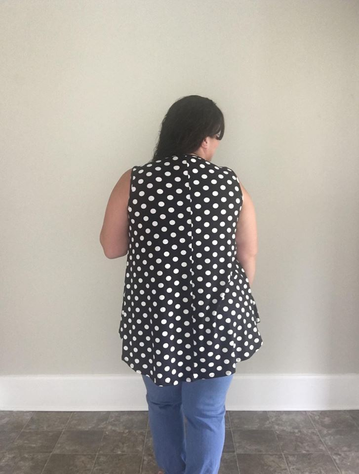 Black and White Polka Dot Tank - Trendy Plus Size Women's Boutique Clothing