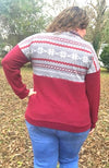 Fair Isle Pullover - Trendy Plus Size Women's Boutique Clothing