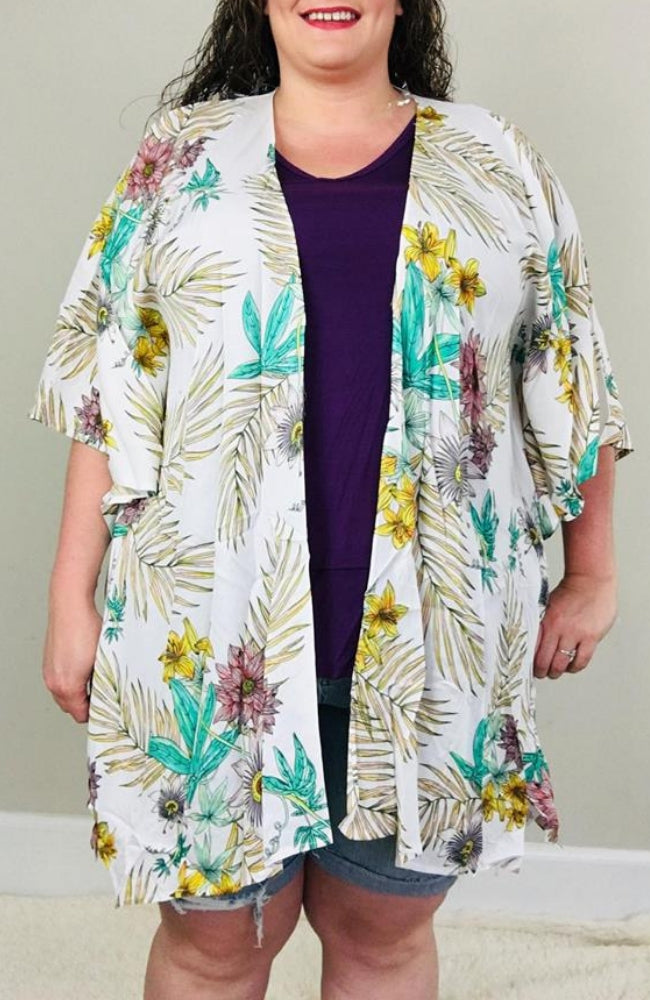 Tropical Kimono - Trendy Plus Size Women's Boutique Clothing