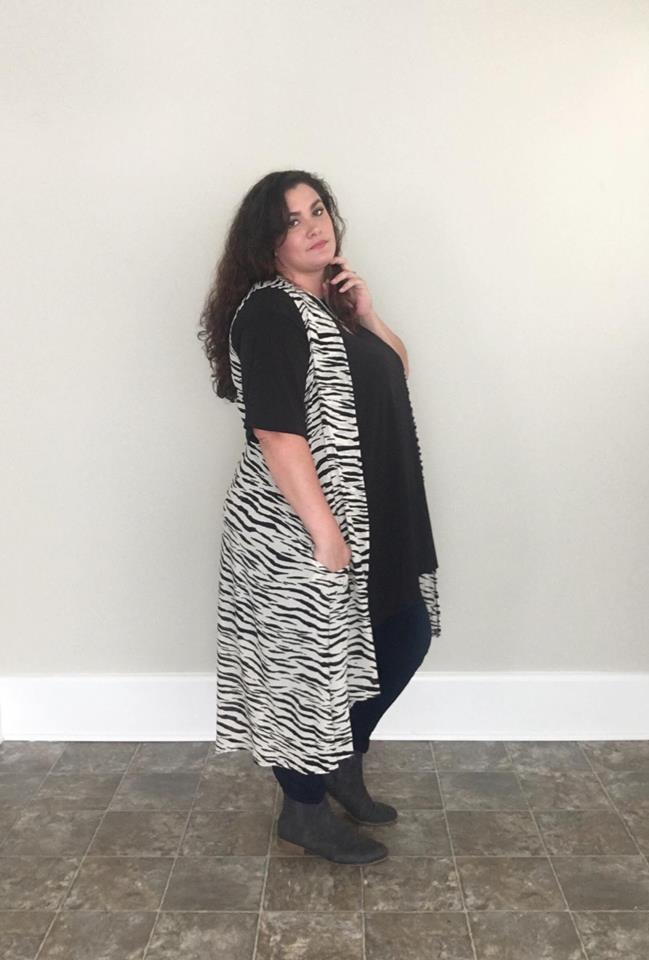 Zebra Vest - Trendy Plus Size Women's Boutique Clothing