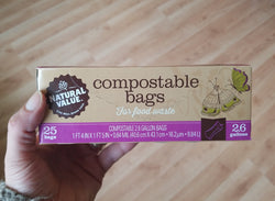Natural Value - Certified Compostable Food Waste Bags - 2.6 gallons