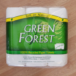 Green Forest 90% Post Consumer Recycled Paper Towels - 3 Rolls
