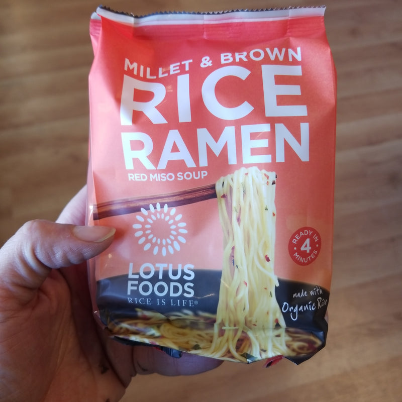 Millet and Brown Rice Ramen - Lotus Foods - 1 Noodle Cake with Red Miso Packet