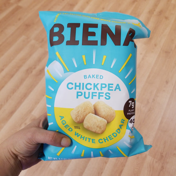 Biena Baked Chickpea Puffs - White Cheddar - 3.2 oz