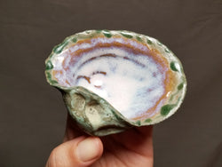 Ceramic Mussel Shell Trinket Dish
