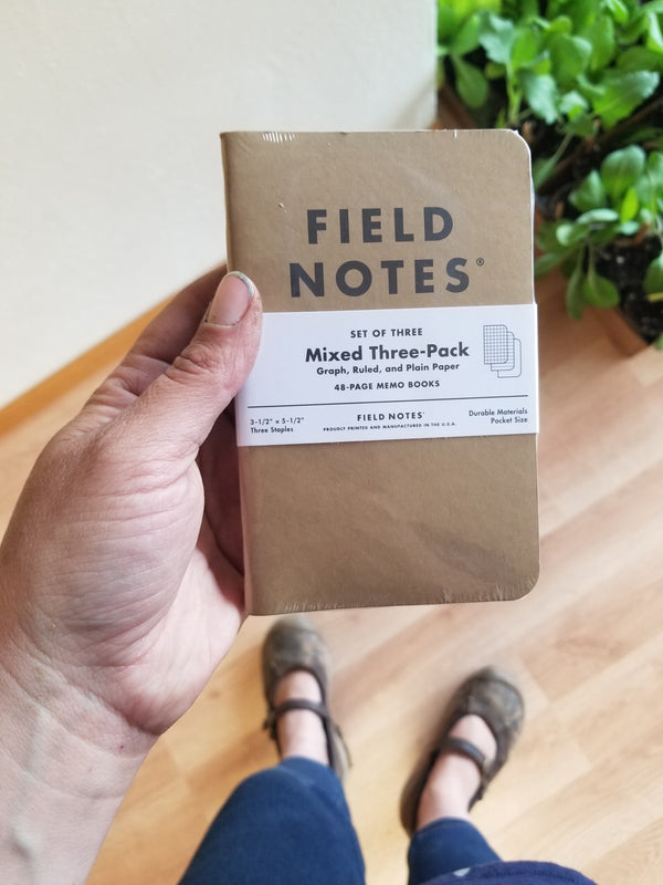 Field Notes - Kraft Memo Book - Mixed Paper 3-pack