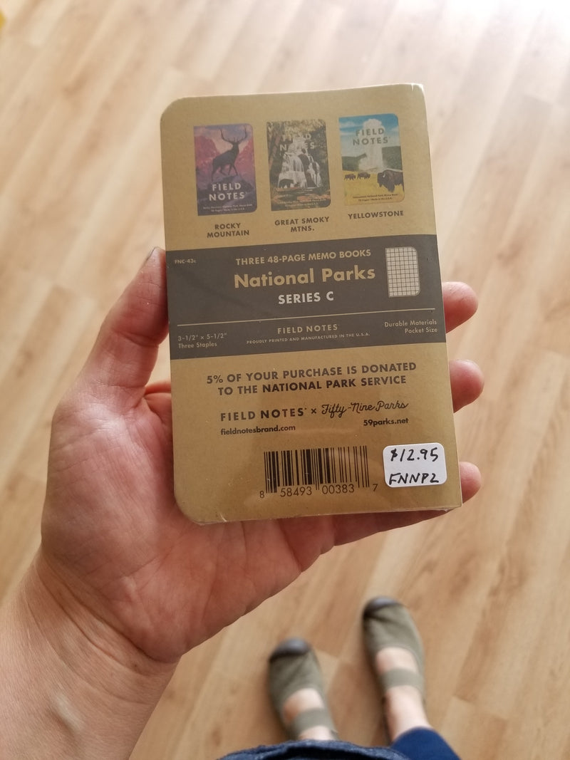 Field Notes - National Parks 3-Pack - Rocky Mountain/Great Smoky Mtns./Yellowstone