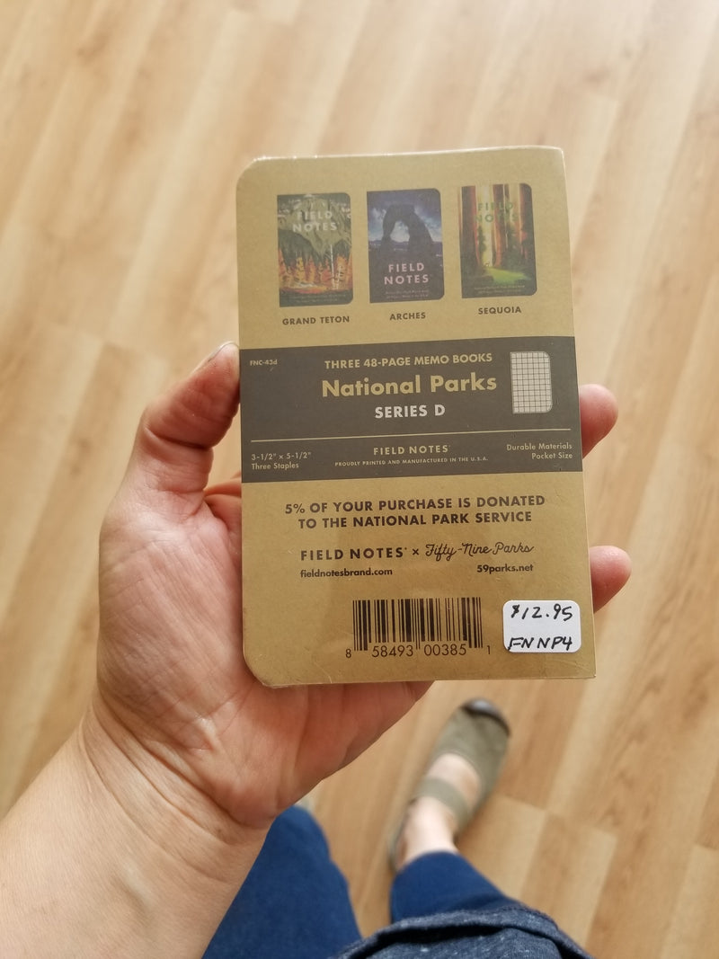 Field Notes - National Parks 3-Pack - Grand Teton/Arches/Sequoia