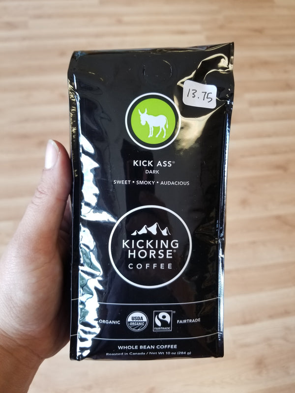 Kicking Horse Coffee - Kick Ass - Dark Roast - 10 oz.