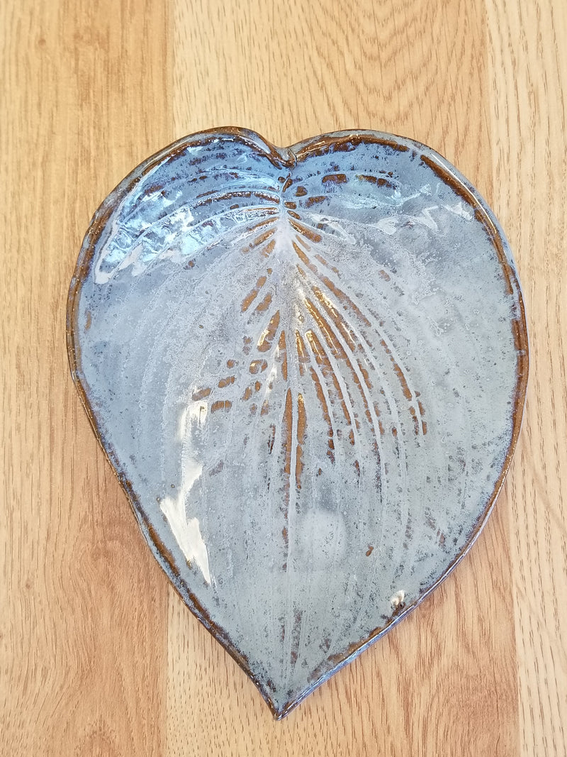 Small Leaf Plate - Hand Built Pottery by Authentic Arts
