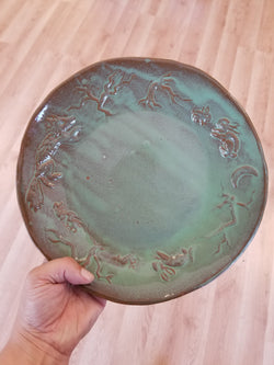 Bunnies and Foxes Pottery Plate