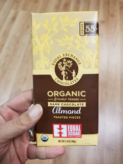Equal Exchange Dark Chocolate With Toasted Almond Bar