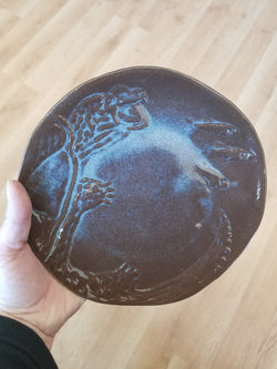 Snapping Turtle Pottery Plate
