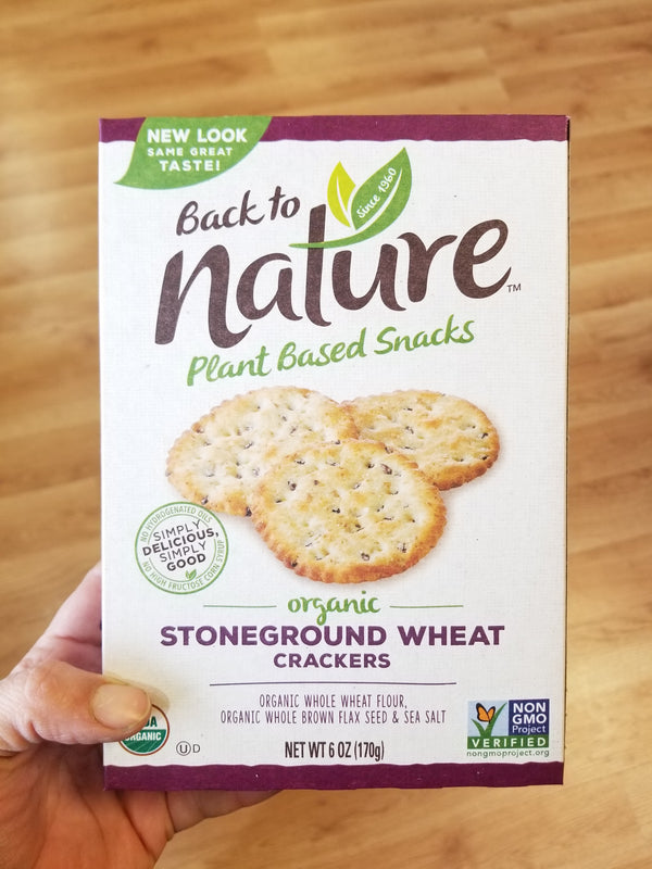 Back To Nature Organic Stoneground Wheat Crackers - 6 oz