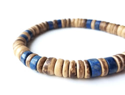 Tribal Lapis bracelet for men by Authentic Men