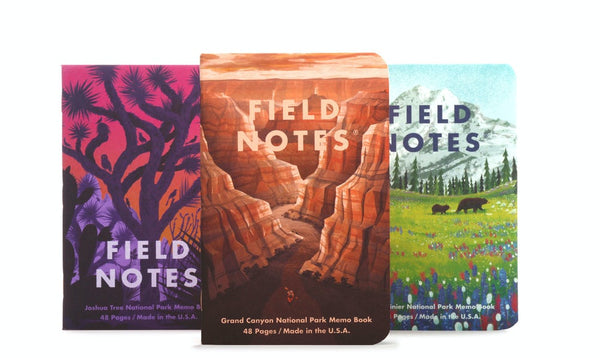 Field Notes - National Parks 3-Pack - Grand Canyon/Joshua Tree/Mount Rainier