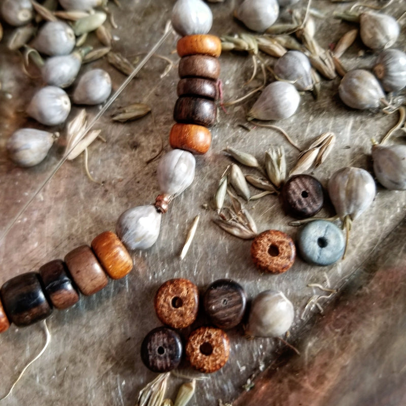 Men's Beaded Necklace - Copper Jobs Tears