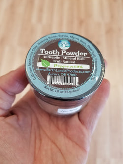 Tooth Powder - Peppermint - 1.5 oz.