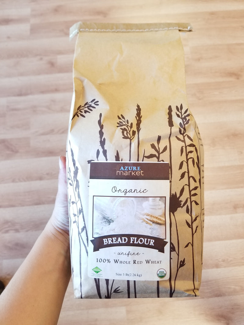 Organic Bread Flour - 100% Whole Red Wheat
