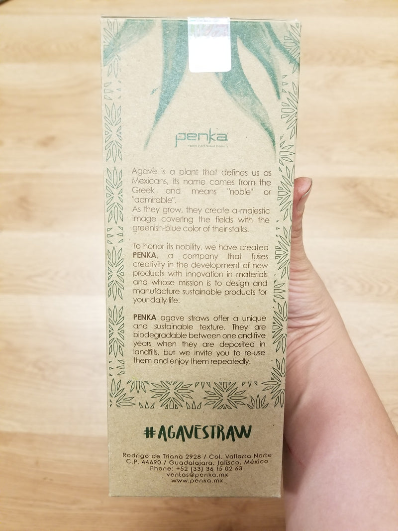 Eco-friendly Straws made from Agave Fiber - 150 straws