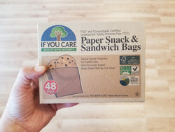 If You Care - Paper Snack and Sandwich Bags -  Unbleached - 48 bags