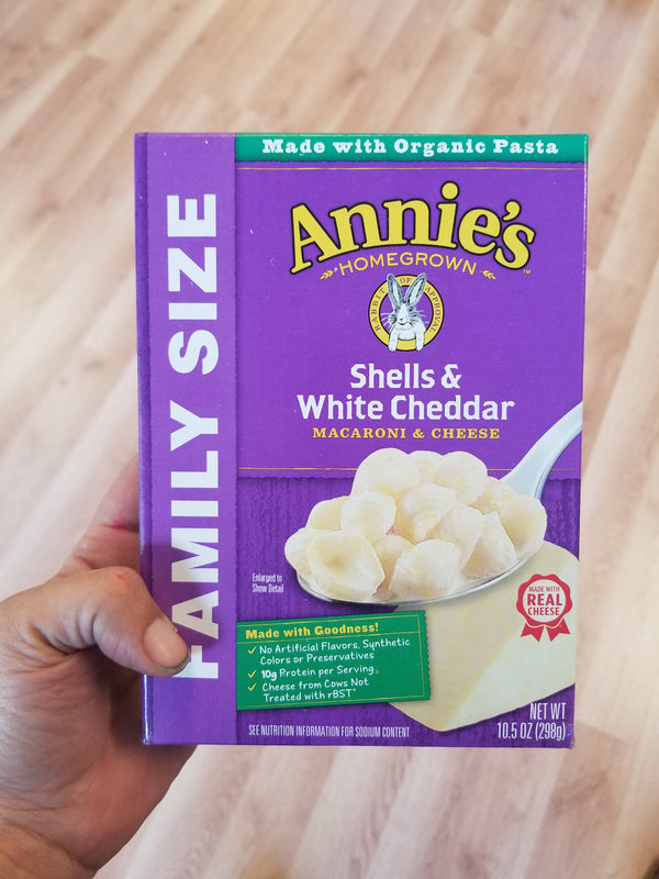 Annie's Shells and White Cheddar Macaroni and Cheese - Family Size