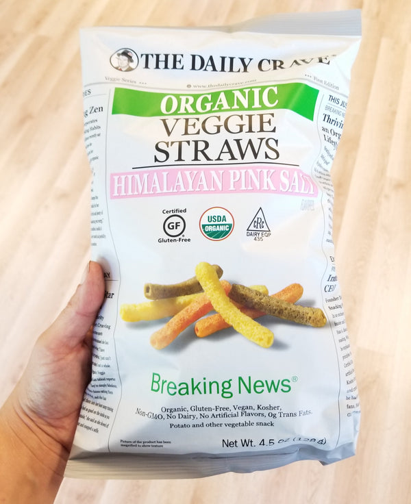 Organic Veggie Straws by The Daily Crave - 4.5 oz