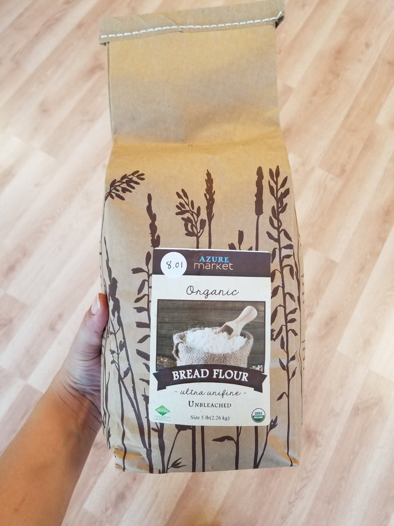 Organic Unbleached Bread Flour - Organic Hard Red Spring Wheat - 5 lbs