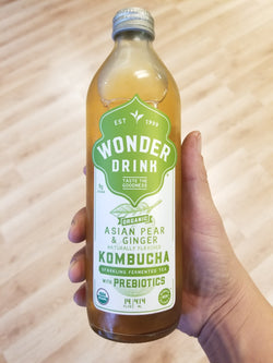 Wonder Drink Kombucha - Asian Pear and Ginger - 14 oz