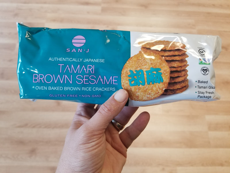 San-J Tamari Brown Sesame Rice Crackers - 3.7 oz