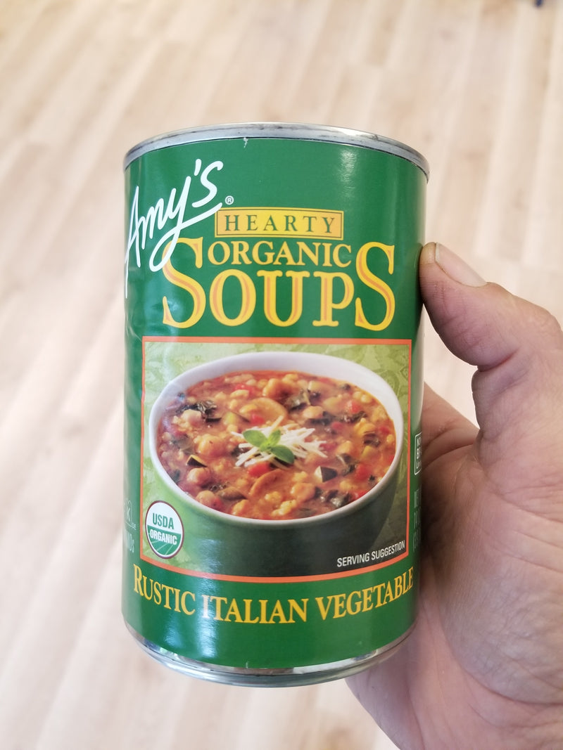 Amy's Rustic Italian Vegetable - Hearty Organic Soup