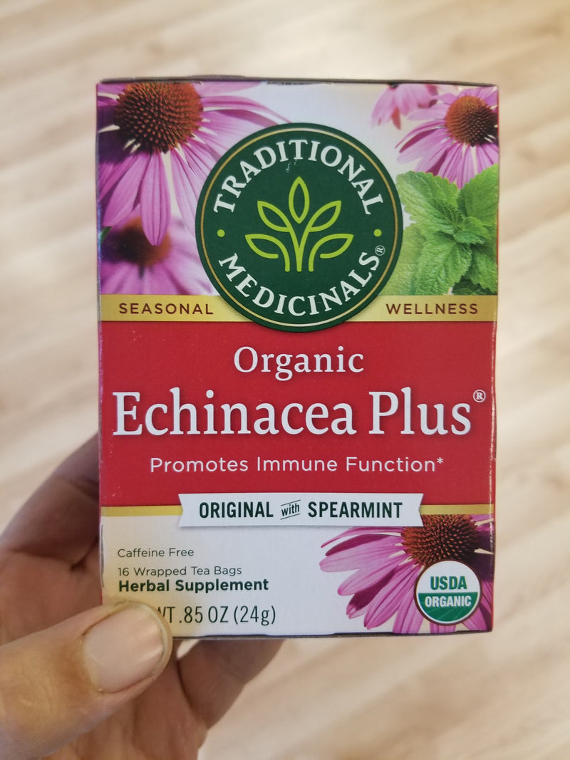 Traditional Medicinals - Organic Echinacea Plus Herbal Tea - 16 tea bags