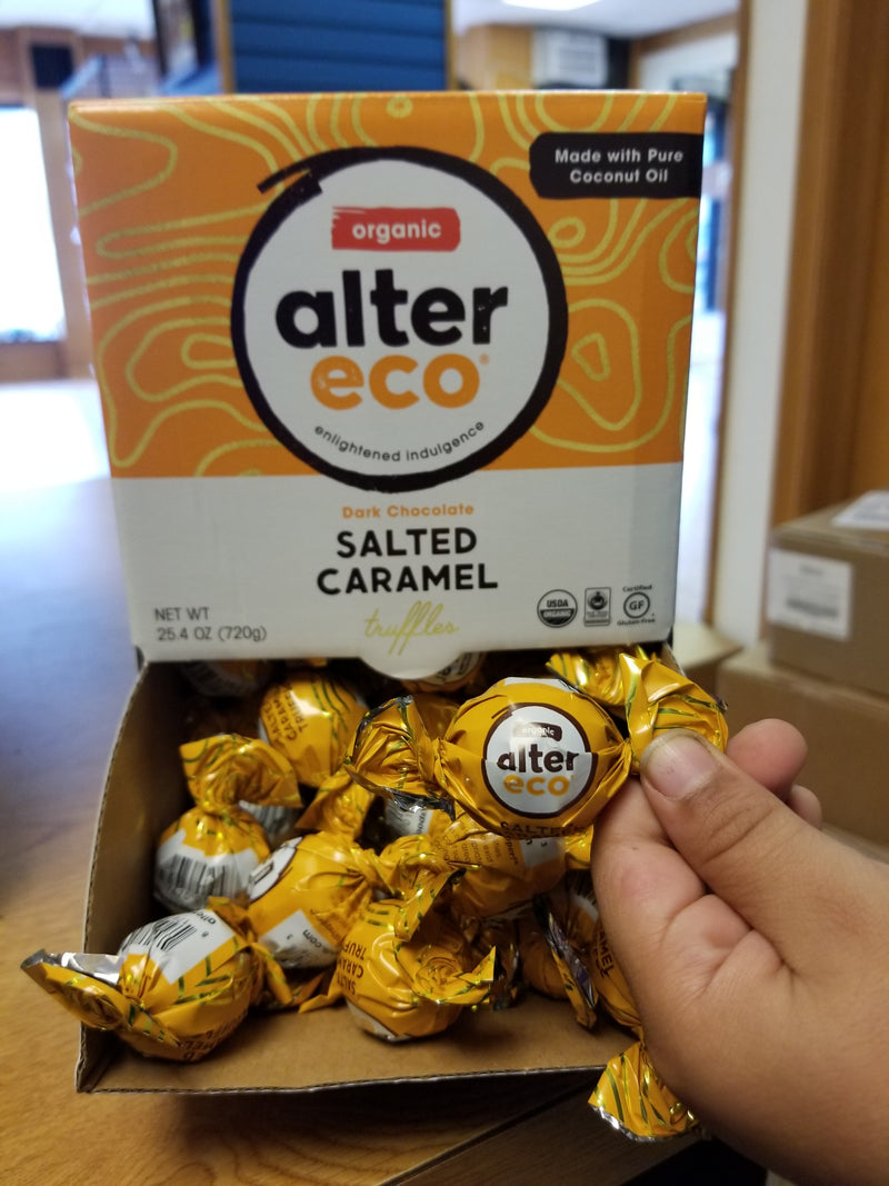 Alter Eco Dark Chocolate Salted Caramel Truffles