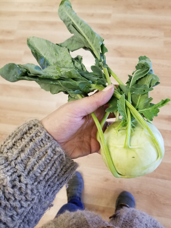 Kohlrabi (locally grown by Bountiful Beloit)