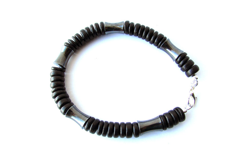 Men's Beaded Bracelet - Dark Matter