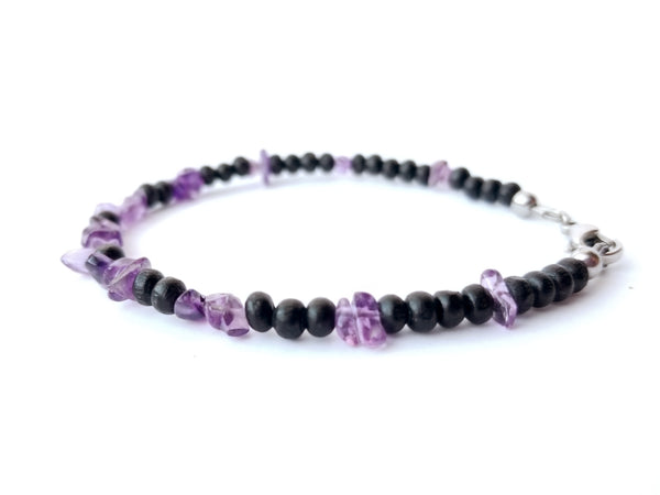 Women's Beaded Bracelet - Midnight Amethyst