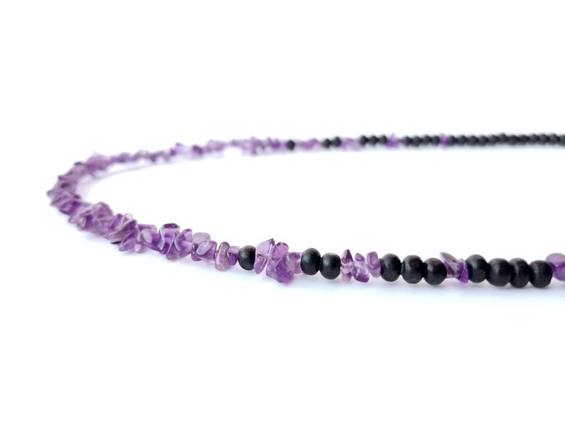 Women's Beaded Necklace - Midnight Amethyst