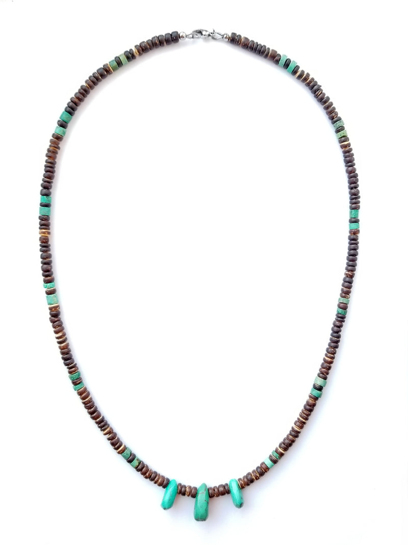 Women's Beaded Necklace - Tribal Turquoise