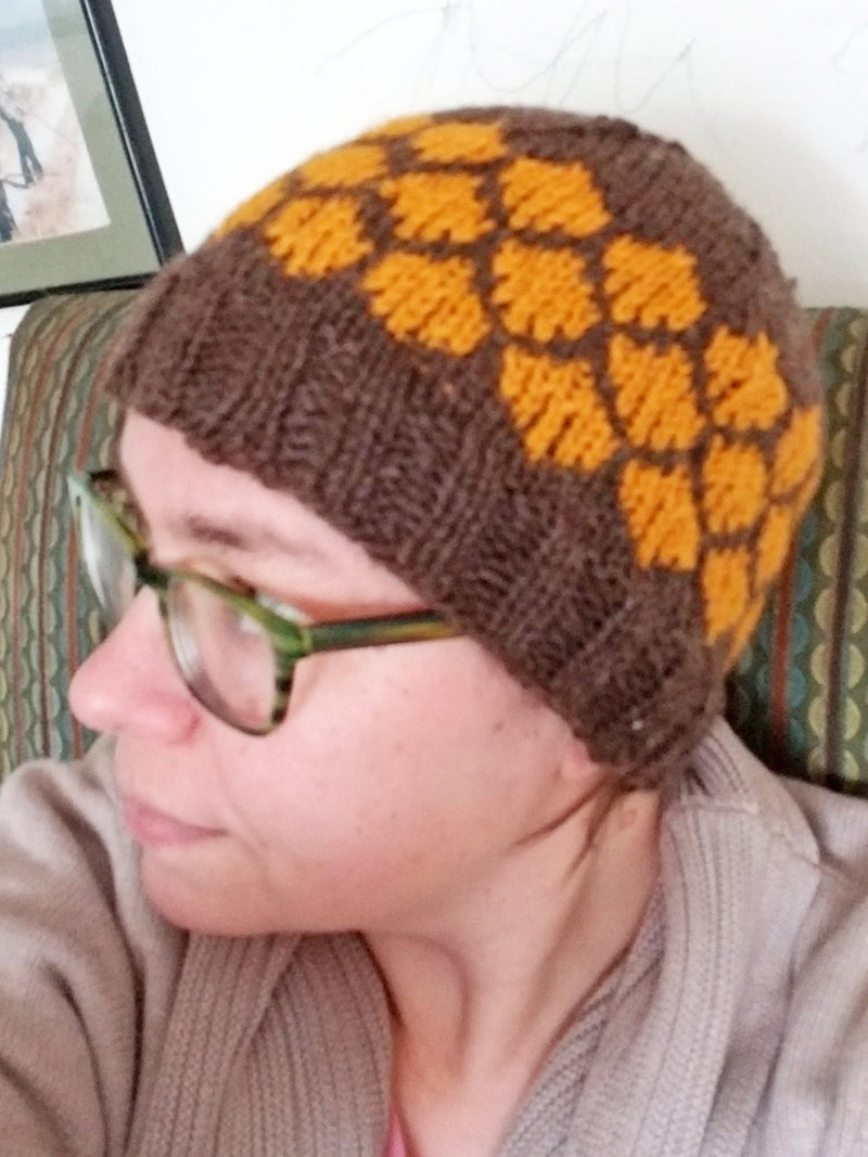 Hand Knit Hat - Honeycomb