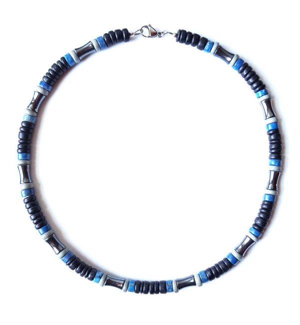 Men's Beaded Necklace - Blues Song