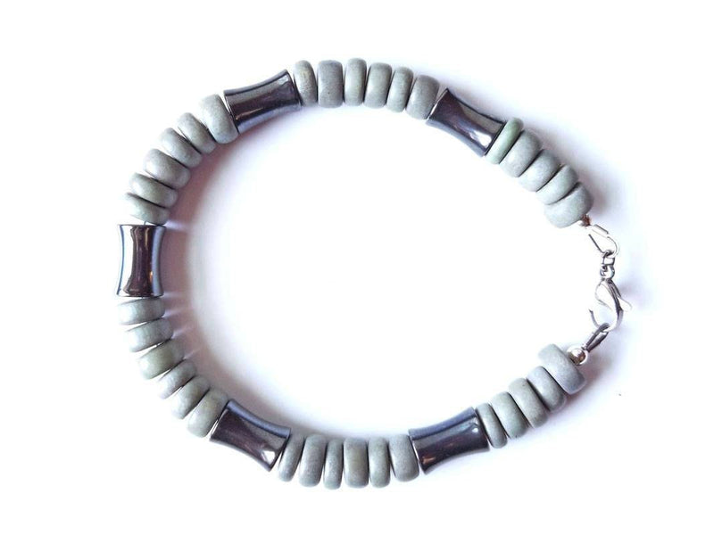 Men's Beaded Bracelet - Thunderstorm