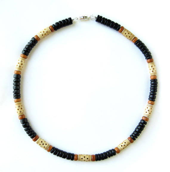 Men's Beaded Necklace and Bracelet Set - Morocco