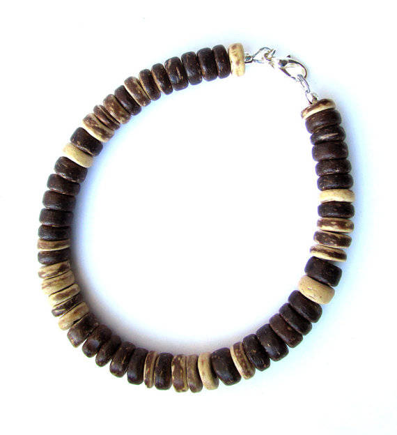 Men's Beaded Necklace and Bracelet Set - Woodsman
