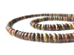 Men's Beaded Necklace and Bracelet Set - Camo