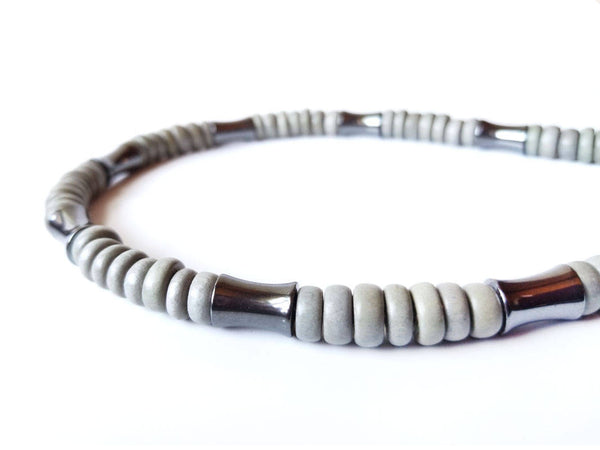Men's Beaded Necklace - Thunderstorm