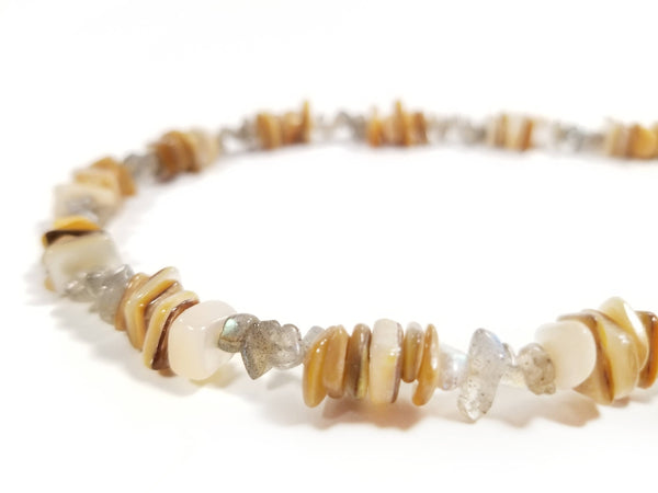 Men's Beaded Necklace - Sun Shells