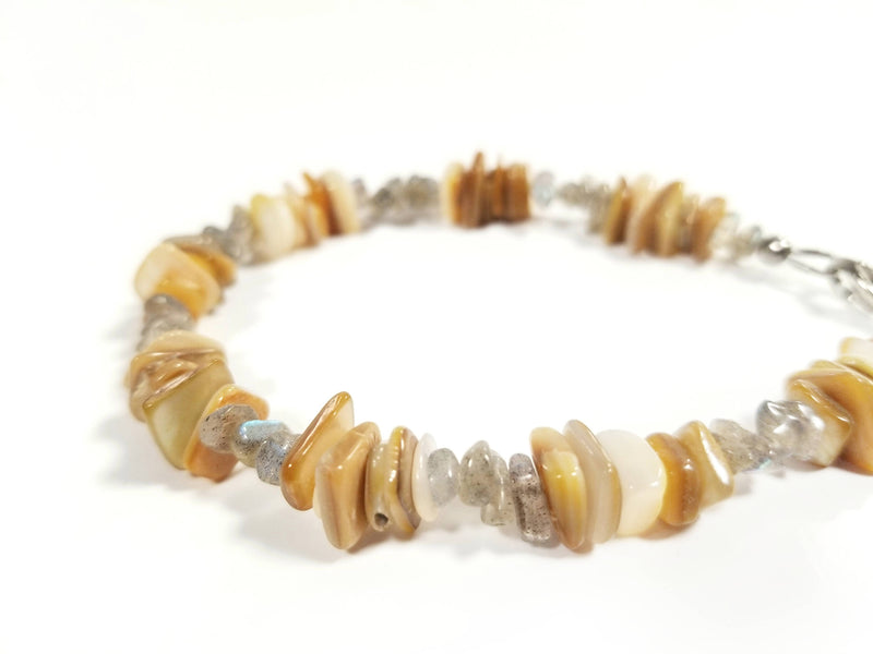Men's Beaded Bracelet - Sun Shells