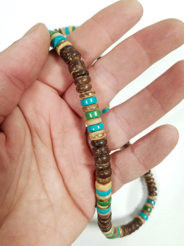 Men's Beaded Necklace - Kelp