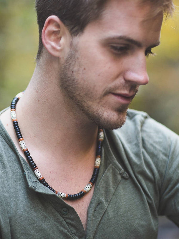 Men's Beaded Necklace - Morocco