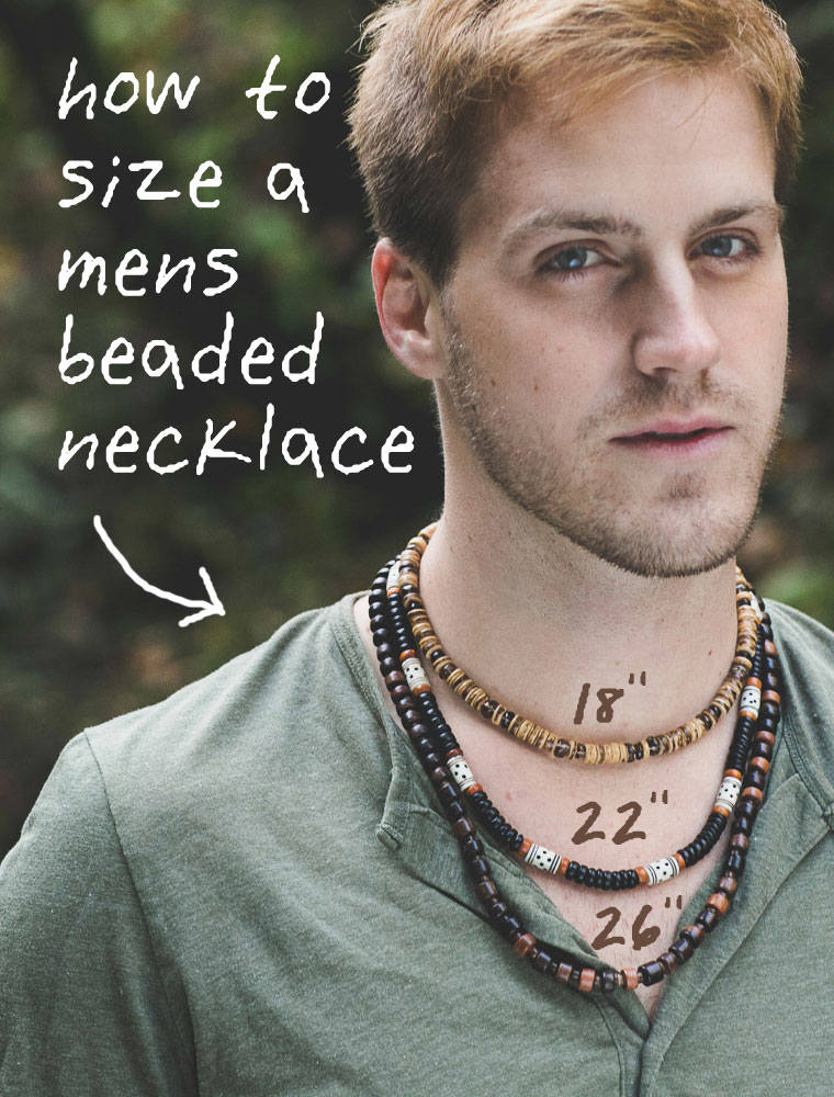 Men's Beaded Necklace - Blue Eyes